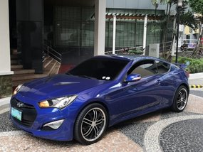 Blue 2013 Hyundai Genesis Manual Gasoline for sale
