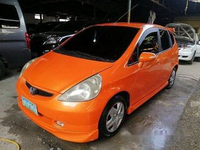 Orange Honda Fit 2005 Automatic for sale
