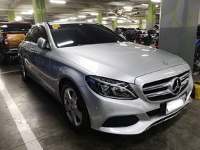 Silver 2017 Mercedes-Benz C180 Automatic Gasoline for sale