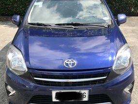 Blue Toyota Wigo 2016 Hatchback for sale in Bacoor