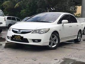 White 2009 Honda Civic at 93000 km for sale in Makati