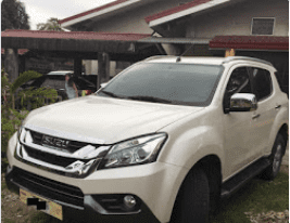 White 2017 Isuzu Mu-X at 18000 km for sale