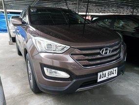 Brown Hyundai Santa Fe 2015 for sale