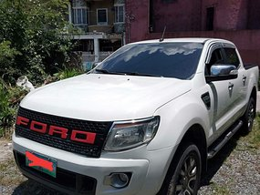 Selling White Ford Ranger 2014 at 41000 km in Quezon City