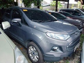 Grey Ford Ecosport 2018 Automatic Gasoline for sale