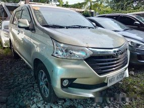 Beige Toyota Avanza 2017 Automatic Gasoline for sale