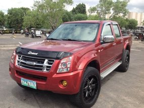 Red 2008 Isuzu D-Max 2008 Truck Automatic Diesel for sale