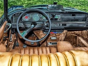 How automobile upholstery fitted and what is the Piñatex?