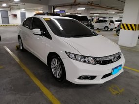 White Honda Civic 2012 for sale in Taguig