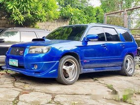 Selling Blue Subaru Forester 2007 at 150000 km