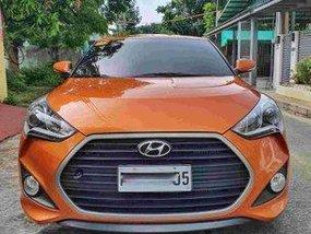 Selling Orange Hyundai Veloster 2017 Automatic Gasoline