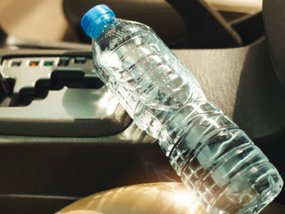 Yes, a water bottle can set your vehicle ablaze!