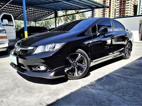 Black 2013 Honda Civic at 65000 km for sale