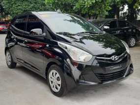 Black 2018 Hyundai Eon at 2000 km for sale in Quezon City