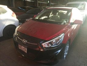 Sell Red 2016 Hyundai Accent Manual Gasoline at 98000 km