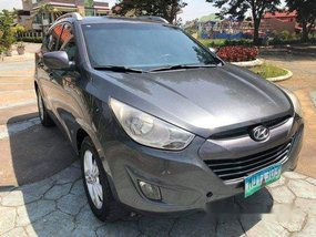 Grey Hyundai Tucson 2010 Automatic Diesel for sale