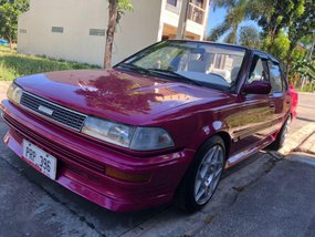 Red Toyota Corolla 1990 for sale in Mabalacat
