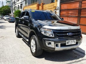 Black 2015 Ford Ranger Wildtrak Automatic in Quezon City