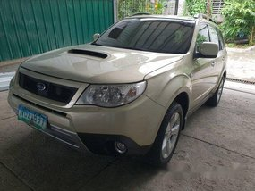 Beige Subaru Forester 2010 Automatic Gasoline for sale