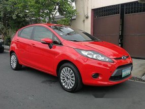 Red Ford Fiesta 2009 Manual Gasoline for sale