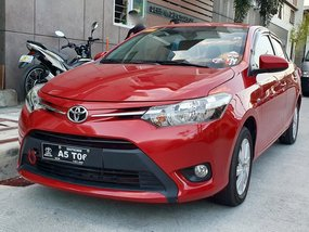 Red 2018 Toyota Vios E Manual in Quezon City