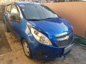 Selling Blue Chevrolet Spark 2011 at 80000 km