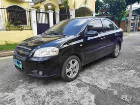 Selling Black Chevrolet Aveo 2012 Automatic Gasoline