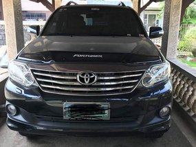 Blue Toyota Fortuner 2012 for sale in Muntinlupa