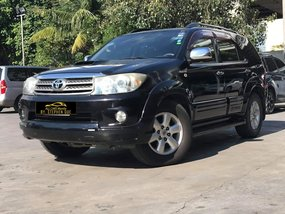 Black 2009 Toyota Fortuner 4x4 3.0L Diesel Automatic for sale in Makati