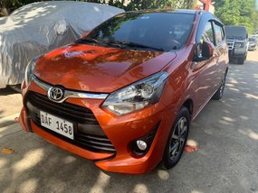Orange Toyota Wigo 2017 for sale in Quezon City