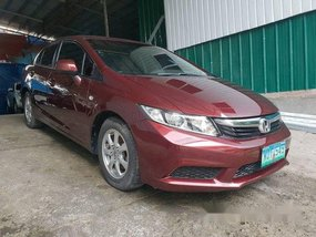 Red Honda Civic 2013 Manual Gasoline for sale in Quezon
