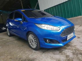Blue Ford Fiesta 2017 at 30000 km for sale