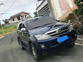 Blue Toyota Fortuner 2008 Automatic Diesel for sale