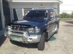 Blue Mitsubishi Pajero 1999 Automatic Gasoline for sale