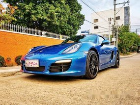 Sell Blue 2015 Porsche Boxster at 6500 km