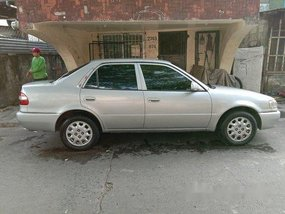 Silver Toyota Corolla 2000 Manual Gasoline for sale