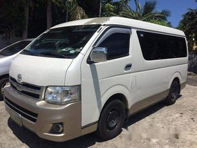 White Toyota Hiace 2013 Manual Diesel for sale