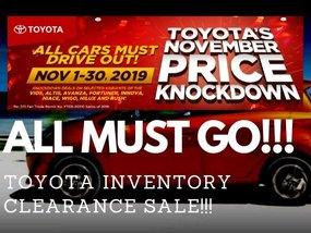ALL CARS MUST GO with Toyota's November Price Knockdown!