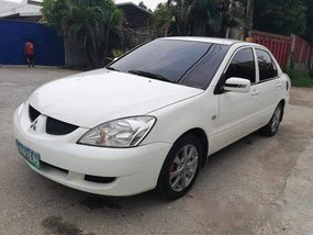 Selling White Mitsubishi Lancer 2007 in Cebu