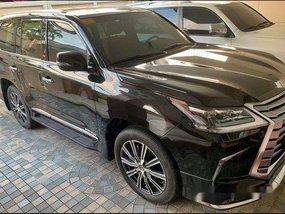 Selling Black Lexus Lx 2018 at 3000  km