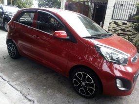 Red Kia Picanto 2012 for sale in Malolos