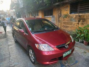 Red Honda City 2005 Automatic Gasoline for sale