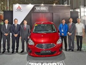 Mitsubishi's 700,000th car is a Mirage G4. So will they be making the new 2020 Mirage here?