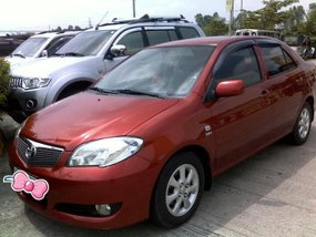 Red Toyota Vios 2007 Model 1.3E for sale in San Fernando