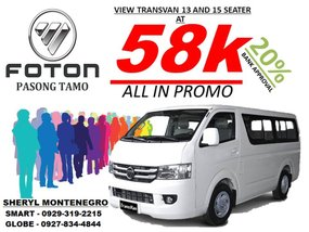 Brand New Foton View Transvan 13 and 15 seater
