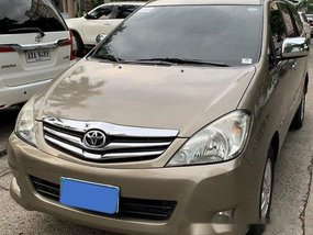 Beige Toyota Innova 2010 at 58000 km for sale