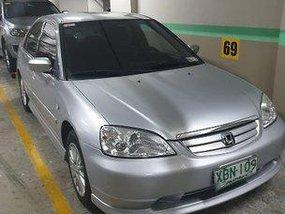 Silver Honda Civic 2002 Automatic Gasoline for sale