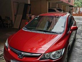 Red Honda Civic 2008 for sale in Quezon City