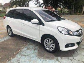 White Honda Mobilio 2016 Automatic Gasoline for sale