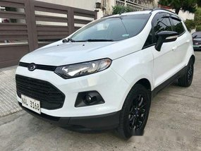 White Ford Ecosport 2017 Automatic Gasoline for sale